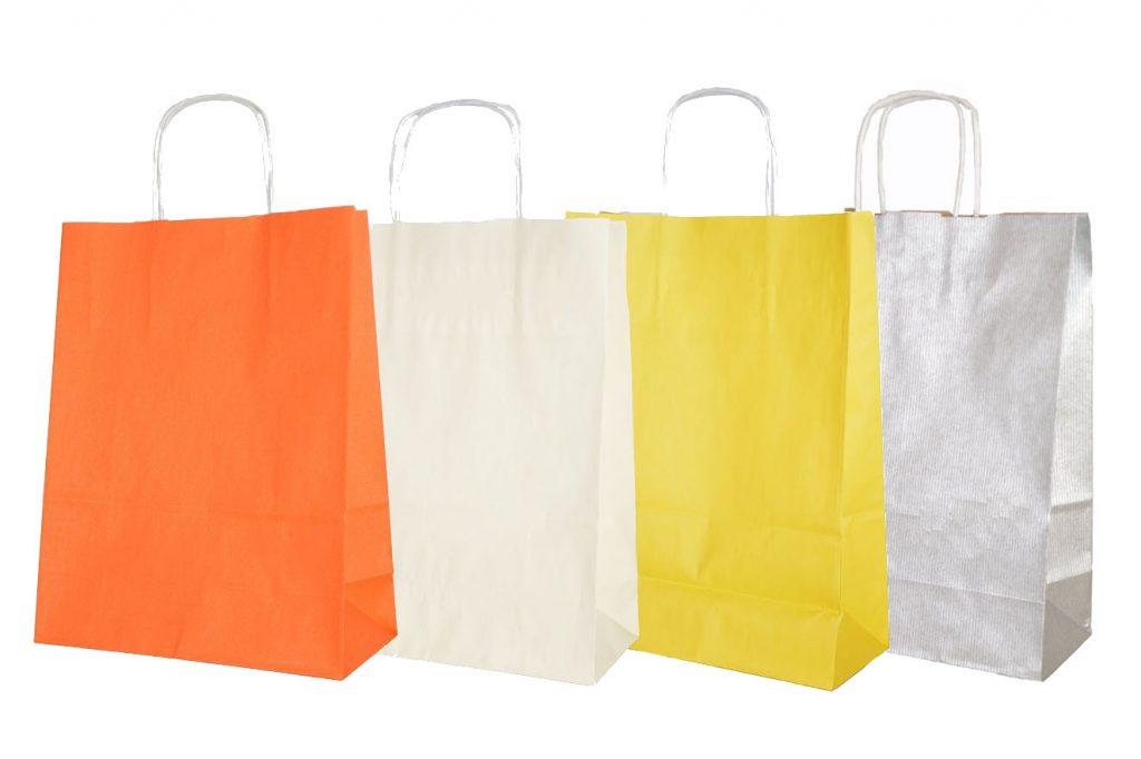 torby papierowe kolorowe - www.pracowniakreska.eu