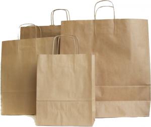 """torby papierowe eko brązowe """"szare"""" - www.pracowniakreska.eu - drukarnia"""